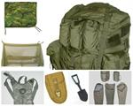 Sleep System, Tool, Parachute, Field Pack, Rucksack, Insect Bar, Flashlight, Water Pump, Bath Unit, Dock Lift, Hydration, Poncho Liner, Holster