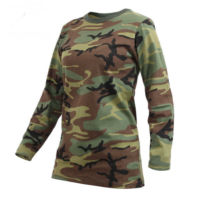 Womens Long Sleeve T Shirt Camo