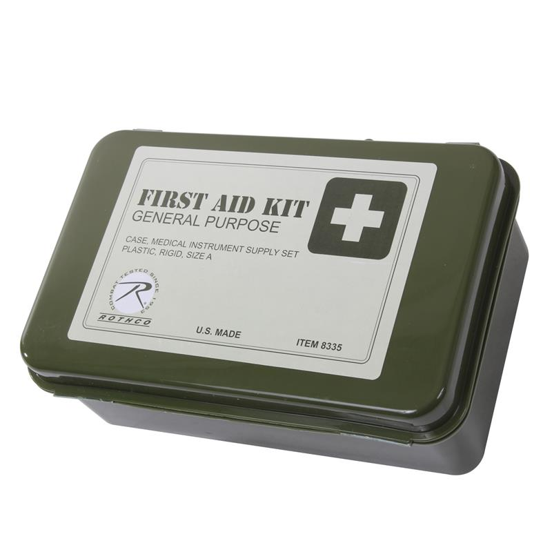 G P Waterproof O D  Military First Aid Kit