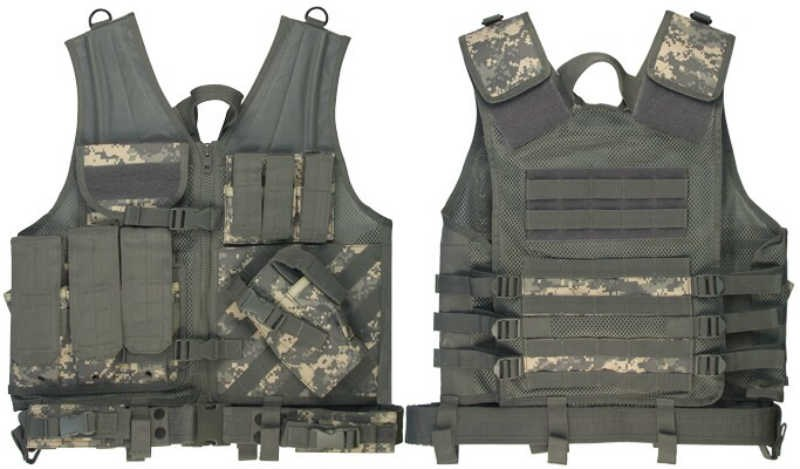 Army Digital Camouflage Cross Draw Tactical Vest