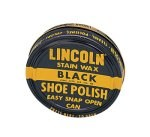 Lincoln USMC Black Stain Wax Shoe Polish-3oz