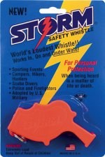 Storm All Weather Orange Safety Whistle