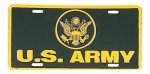U.S. Army OD/Yellow License Plate