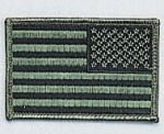Reversed Subdued U.S. Flag Patch