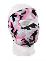 Neoprene Reversible Face Mask - Pink Camo/Black