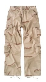 Vintage Paratrooper Fatigue Pants - Camo - Tri-Color Desert