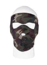 Neoprene Reversible Face Mask - Woodland Camo/Black