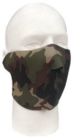 Neoprene Reversible Half Face Mask - Woodland Camo/Black