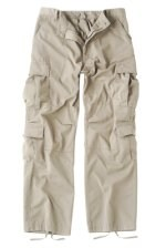 Vintage Paratrooper Fatigue Pants - Solid - Stone