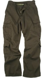 Vintage Paratrooper Fatigue Pants - Solid - Brown