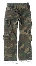 Vintage Paratrooper Fatigue Pants - Camo - Woodland