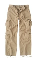 Vintage Paratrooper Fatigue Pants - Solid - Khaki
