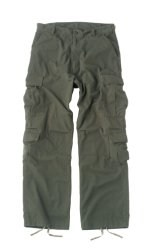 Vintage Paratrooper Fatigue Pants - Solid - Olive Drab