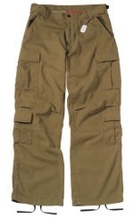 Vintage Paratrooper Fatigue Pants - Solid - Russet Brown