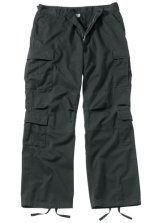 Vintage Paratrooper Fatigue Pants - Solid - Black