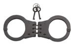 Black Deluxe Hinged Handcuffs