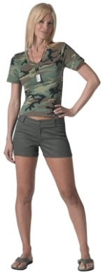 Womens Olive Drab Shorts