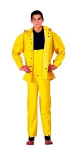 Deluxe H.W. Yellow P.V.C Rainsuit