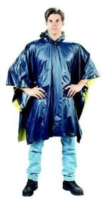 Reversible Navy Blue/Yellow PVC Poncho
