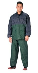 Navy/Green PVC Rainsuit