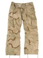 Womens Vintage Paratrooper Fatigue Pants - Camo - Tri-Color Desert