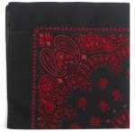 Black W/Red Trainmen Bandana