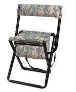 Deluxe Acu Digital Camo Stool W/Pouch-Back