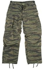 Vintage Vietnam Era Tiger Stripe 6-Pkt Fatigue Pants