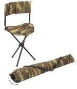 Woodland Camo Collapsible Stool w/Back