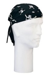 Black Skull & Bones Headwrap