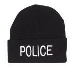 Watch Cap - Embroidered - Police