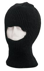 Face Mask - One Hole - Black