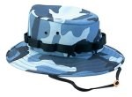 Kids Sky Blue Camo Jungle Hat