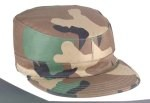 Ultra Force 2 Ply Woodland Camo Rip-Stop Army Ranger Fatigue Cap