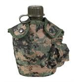 GI STYLE CANTEEN COVER - WOODLAND DIGITAL CAMO