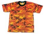Savage Orange Camouflage T-Shirt