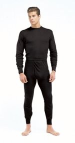 Thermal Polyester Top - Black
