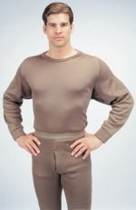 Thermal ECWCS Poly Crew Neck Top - Brown