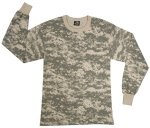 Long Sleeve Digital Camo T-Shirts - ACU Digital
