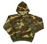 Pullover Hooded Sweatshirt - Woodland Camouflage