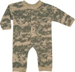 Infant Camouflage Long Sleeve & Leg One-Piece Bodysuit