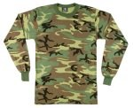 Long Sleeve Camo T-Shirt - Woodland