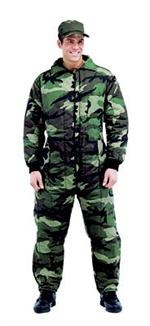 Coveralls - Insulated - Woodland Camo