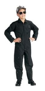 Jr G.I. Kids Black Flightsuit