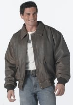 Flight Jacket - A 2 - Brown Leather