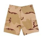 Ultra Force Tri-Color Desert Camo BDU Combat Shorts
