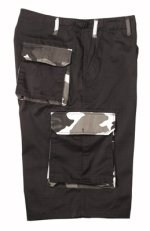 Ultra Force Rigid Black w/City Camo Accent Cargo Shorts