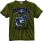 O.D. Marines G&A First To Fight T-Shirt