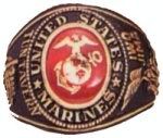 Engraved Marine Corps Military Ring