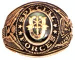 Engraved Special Forces Military Ring